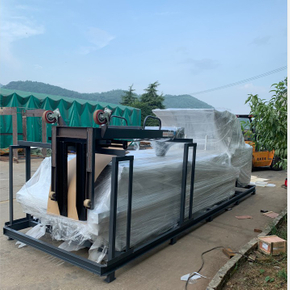 YB-1100B SEMI-Automatic Flute Laminating Machine Delivery to Ukraine