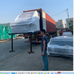 YB-1450H High Speed Flute Laminating Machine Delivery to Mexico